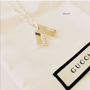New Authentic Gucci Stretch G Logo Silver Necklace